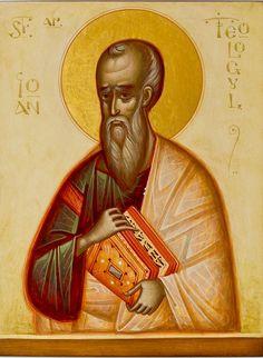 John the Theologian by Gabriel Toma Chituc Church Interior, Saint Jean, Orthodox Icons, Gabriel, Modern Art, Religion, Statue, Artwork, Painting