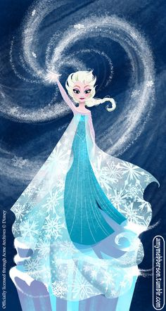 """by amymebberson:  """"Letting Go"""" - my new Frozen giclee now available from Acme Archives."""