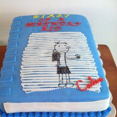 Diary of a whimpy kid themed cake