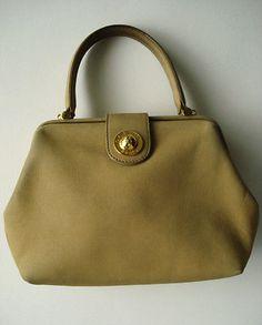 SOLD - Celine-Bag-Authentic-Beige-Camel-Bag-Vintage-Red-Interior-Suede-RARE-Doctor