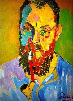 Portrait of Henri Matisse (1905) by André Derain, they worked side by side in a studio