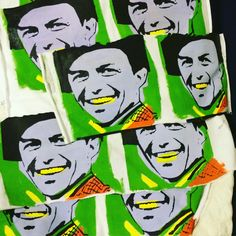 Frank sinatra pocket tshirts in progress …  #handpainted #handmade # Jossart # jossartgallery