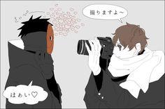 Obito and Kakashi meet while both disguised! Naruto Kakashi, Madara Uchiha, Anime Naruto, Boruto, Naruto Fan Art, Naruto Cute, Shikamaru, Anime Guys, Narusasu
