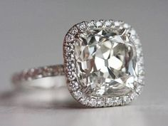 square cut diamond engagement ring,...... A girl can dream :) what a beautiful anniversary gift :)