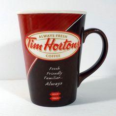 Tim Hortons Coffee Mug limited edition 12 Always Fresh french and english Tim Hortons Coffee, Coffee Mugs, English, French, Tableware, Dinnerware, French People, Dishes, English Language