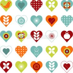 Hearts Pattern Royalty Free Stock Vector Art Illustration