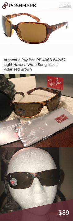 78cf1b62b45e Ray Ban RB 4068 Havana Wrap Sunglasses Polarized Sunglasses are display  sunglasses from Macy s