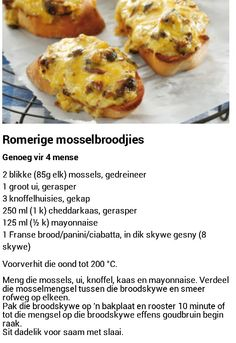 Romerige mosselbroodjies