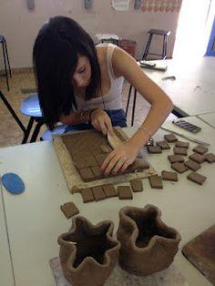 Year 10 student. Clay Sculpture workshop.