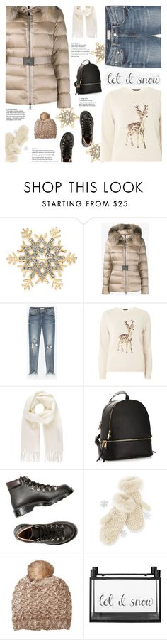 """#letitsnow"" by giulls1 ❤ liked on Polyvore featuring Charter Club, Moncler, Dorothy Perkins, Vivienne Westwood, Mark & Graham, Michael Stars, Bloomingville, neutrals, snow and snowflakes"