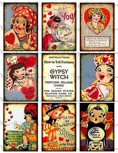 vintage gypsy valentines available at HopePhotoArt