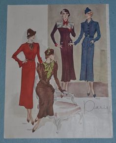 McCall's Magazine 1934 featuring McCall 7641, 7628, 7625 and 7632