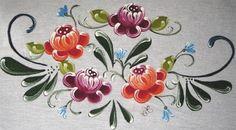 Pintura em Tecido Passo a Passo Com Fotos: Bauernmalerei no Tecido II