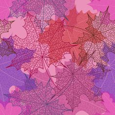 Beautiful autumn leaves vector seamless pattern 05