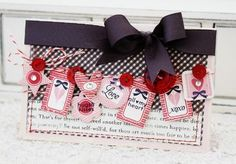 Love these Tiny Tags from Melissa at Papertrey Ink Stampin Up, Tiny Tags, Valentine Day Crafts, Valentine Stuff, Heart Cards, Love Cards, Cards Diy, Creative Cards, Anniversary Cards