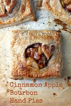 Cinnamon Apple Bourbon Hand Pies with Whole Wheat Crust - easy and SO delicious! (Whole Apple Recipes) Tart Recipes, Apple Recipes, Sweet Recipes, Pie Dessert, Dessert Recipes, Dinner Dessert, Apple Bourbon, Apple Hand Pies, Sweet Pie