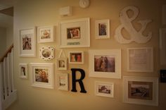 How to Make a Gallery Wall. I like that it uses colored photos rather than just the black & white photos.