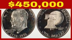 THE SINGLE RAREST 1976 EISENHOWER DOLLAR WORTH BIG MONEY!! RARE IKE DOLL... Rare Coins Worth Money, Valuable Coins, All Currency, Coin Worth, Old Money, Antique Coins, World Coins, Blue Books, Half Dollar