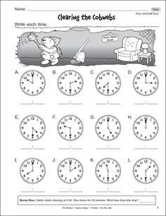 first grade worksheets | First grade worksheets—Clearing the Cobwebs
