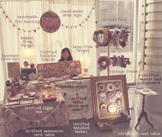 How to design a Craft Booth with thrifted finds, handmade pieces & items you may already have. GREAT Blog post & love how she goes into detail on this topic!