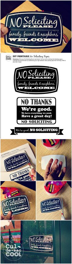 DIY Printable No Soliciting Collage 3