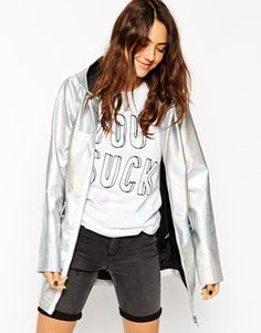 ASOS Metallic Rain Mac