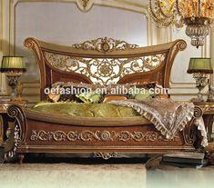 Italian Bedroom Furniture, Bedroom Furniture Sets, Bedroom Sets, Luxury Furniture, Bedding Sets, Bedroom Decor, Bed Headboard Wooden, Headboards For Beds, Carved Beds