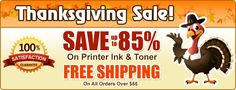 Save 85% on printer ink & toner plus free s/h on all orders over $55