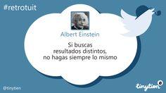 El #retrotuit de hoy, por Albert Einstein ;)