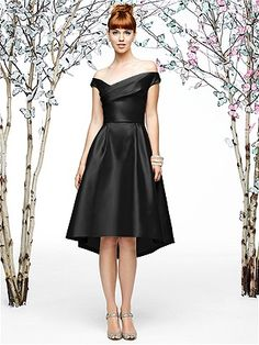 Lela Rose Style LR197 http://www.dessy.com/dresses/bridesmaid/lr197/  I know this is REALLY far off the shoulder, but so modern and sophisticated!