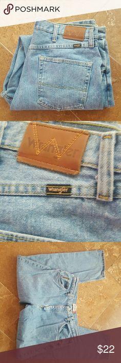 Wrangler Regular Fit Jeans Wrangler Regular Fit Jeans. Waist 38 inches. Length 32 inches. Wrangler Jeans Relaxed