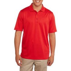 George Big Men's Performance Polo, Size: 4XL, Red