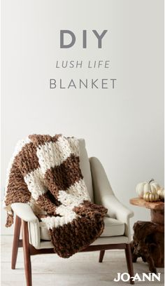 This DIY Lush Life Knitted Blanket will make you want to cozy up next to a warm fire with a steaming cup of hot cocoa. Thankfully, that's basically what this homemade craft project is made for!