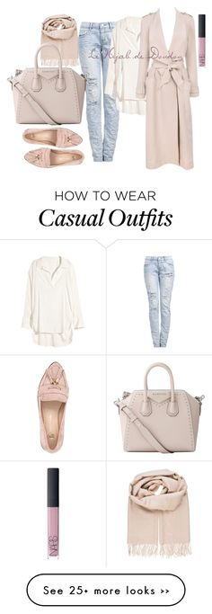 """Casual HijabOutfit"" by le-hijab-de-doudou on Polyvore featuring H&M, NARS Cosmetics, Bik Bok, River Island and Givenchy"