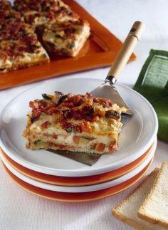 lasagne di pancarrè alle verdure