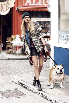 Cara Delevingne para la campaña otono invierno 2013 de Pepe Jeans London.