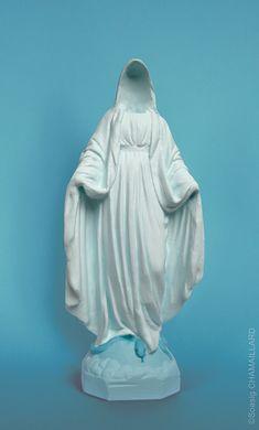 Soasig Chamaillard | Détournement Statue Sainte Vierge | Disparition | Nantes et Paris - Contemporary sacred art | CoSA