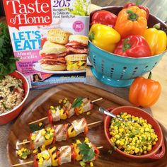 Jen Ingersoll of Herndon, VA Skypes with Cristina to share her #Peppered #Tuna #Kabobs featured in @Taste of Home! #grill #fish #healthy #homeandfamily #homeandfamilytv #hallmarkchannel