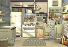 Sims 4 House Plans, Sims 4 House Building, Dream House Plans, Sims 4 Family, Sims 4 Kitchen, Sims 4 House Design, Cosy Kitchen, Casas The Sims 4, Sims Ideas