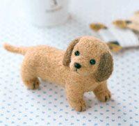 Needle Felted Dog / Miniature Dachshund    --  Hamanaka Co., Ltd.