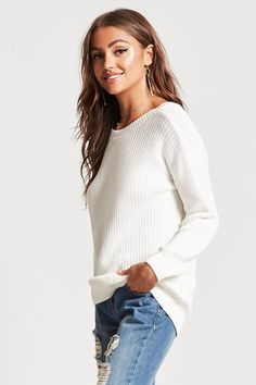 7e872df4a2 Cozy cardigan for layering Ribbed Knit Sweater  19.90 from Forever 21 F21