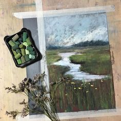 "Instagram media muchwithoutado - Based on the new video by Karen Margulis (@karenmargulis) ""How to Paint Grasses with Pastel"". Funny enough that she mentions a really great Russian pastel brand sent to her by her friend from Finland! Вот! А мы недооцениваем Подольскую!☺️ Thank You, Karen, for an excellent explanation and demo!"