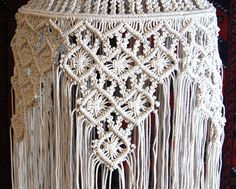 Since 1968 I have been making original macramé hanging lamps and many people have asked me to show them how this is done. The problem being that they are incredibly labor-intensive and time consuming, so I was only able to show this process to a limited few. I have been wanting to put