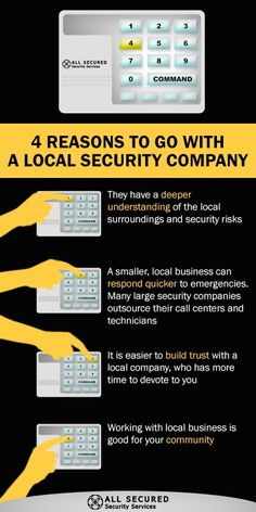 All Secured is proud to be a locally-focused security provider in Columbus, Ohio and the surrounding areas. Check out these 4 Reasons to go with a Local Security Company. #locksmtih #Columbus #Ohio