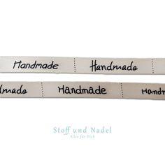 (1,33€/m) 3m Webband Ripsband 9mm Borte Handmade With Love Label Etiketten Band