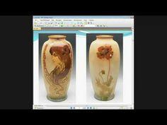 Ф.Батдалова. АртНуво или как сделать декупаж стеклянной вазы в стиле модерн - YouTube