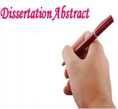 How to write an abstract for your dissertation job market