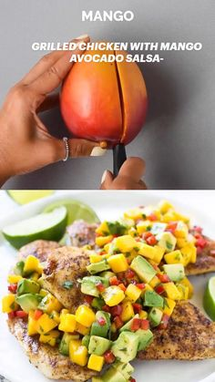 Clean Eating Recipes, Diet Recipes, Chicken Recipes, Healthy Eating, Cooking Recipes, Healthy Recipes, Cooking Game, Avocado, Mango