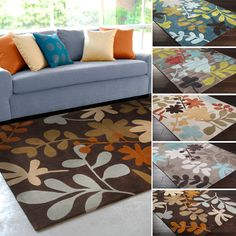 Hand-Tufted Floral Contemporary Area Rug-(5' x 8') | Overstock.com Shopping - Great Deals on 5x8 - 6x9 Rugs