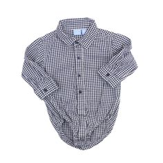 Baby Gap Infant Boys Classic Black and White Check Shirt Bodysuit, Size 9-12